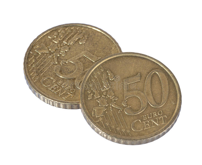 Two 50 cent stock images