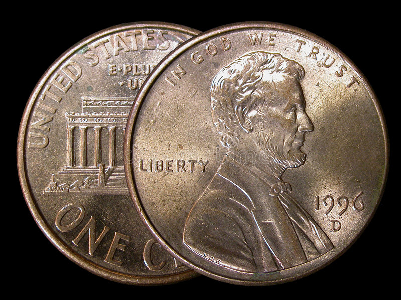 Two Cents royalty free stock images