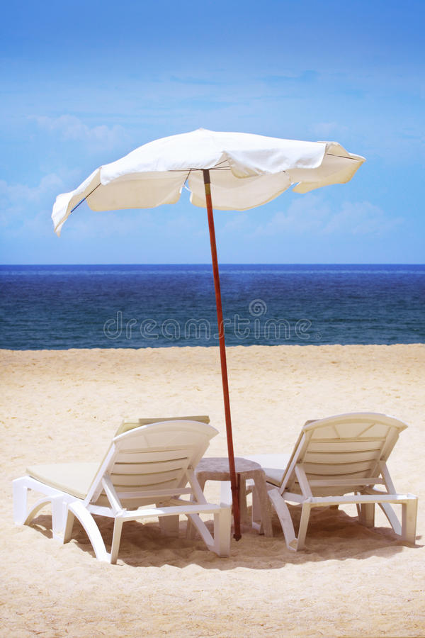 Download Two chairs and umbrella stock photo. Image of quiet, holiday - 11966712