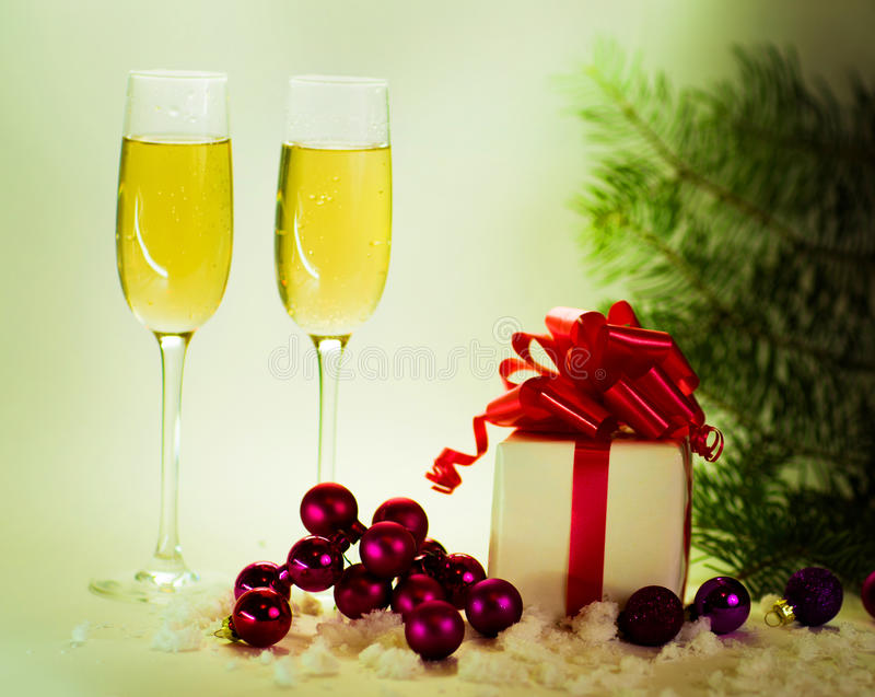 Two champagne glasses royalty free stock photo