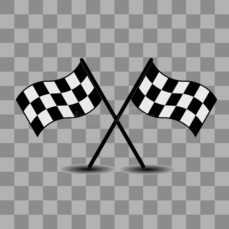 Download Two checkered racing flags stock vector. Illustration of drive - 18554107