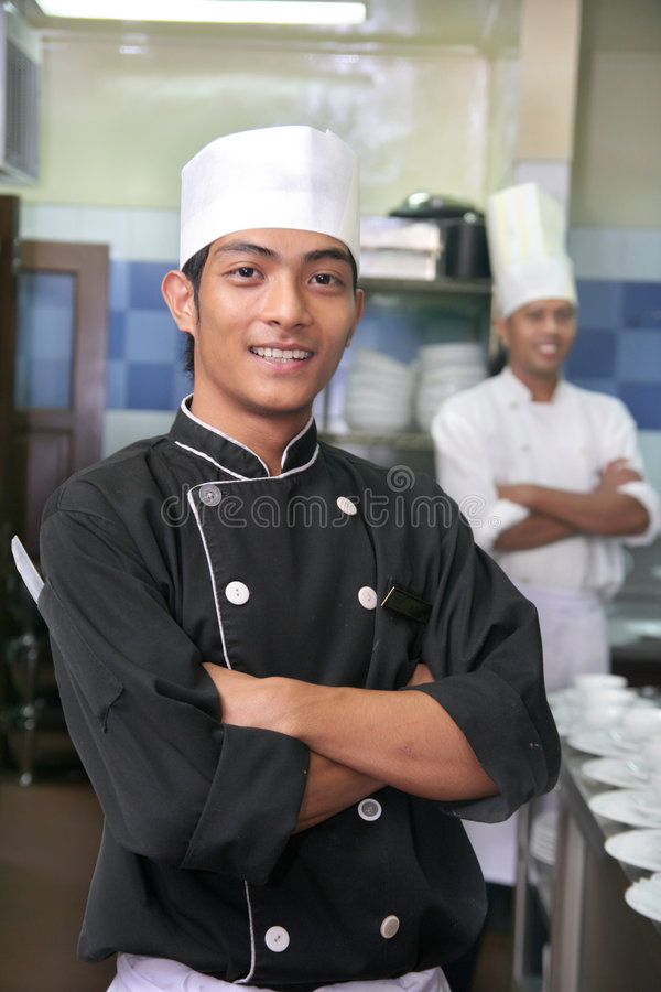 Two chef stock photo