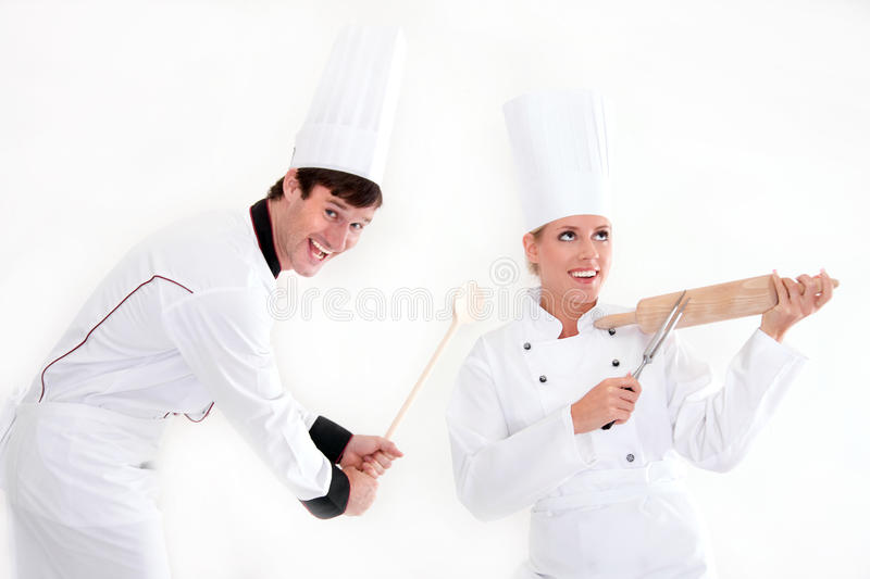 Download Two chefs - cooking is fun stock photo. Image of resort - 23809110