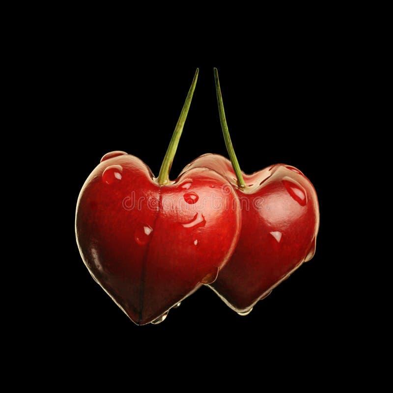 Free Two Cherry Heart Stock Photos - 17779533