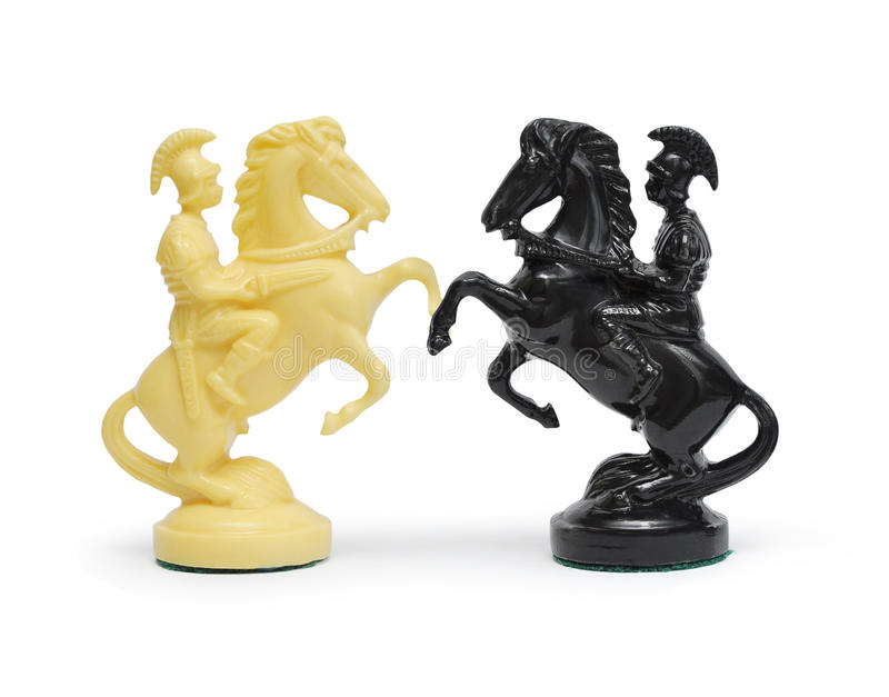Two chess horse royalty free stock photos