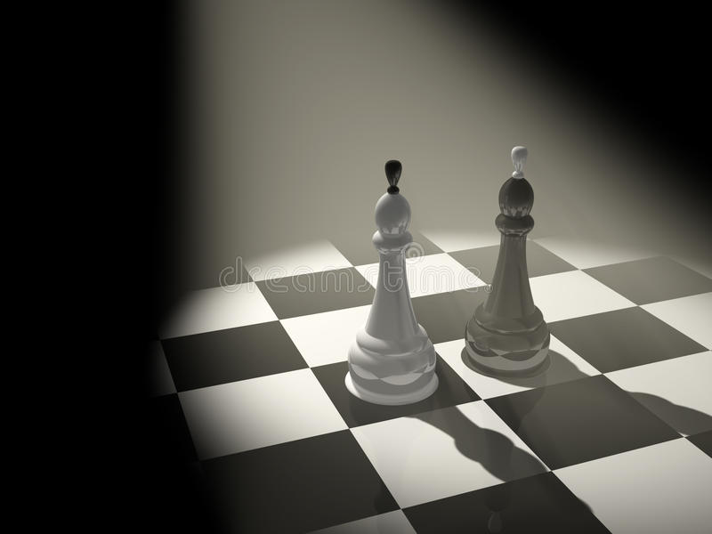 Download Two chess kings stock illustration. Image of chess, defeat - 9398363