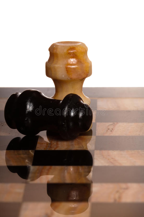 Two chessmans royalty free stock images