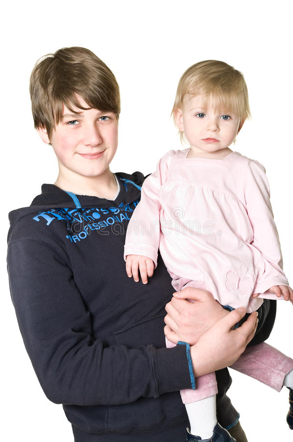 Download Two Children: Brother And Sister Together Stock Image - Image: 13259965
