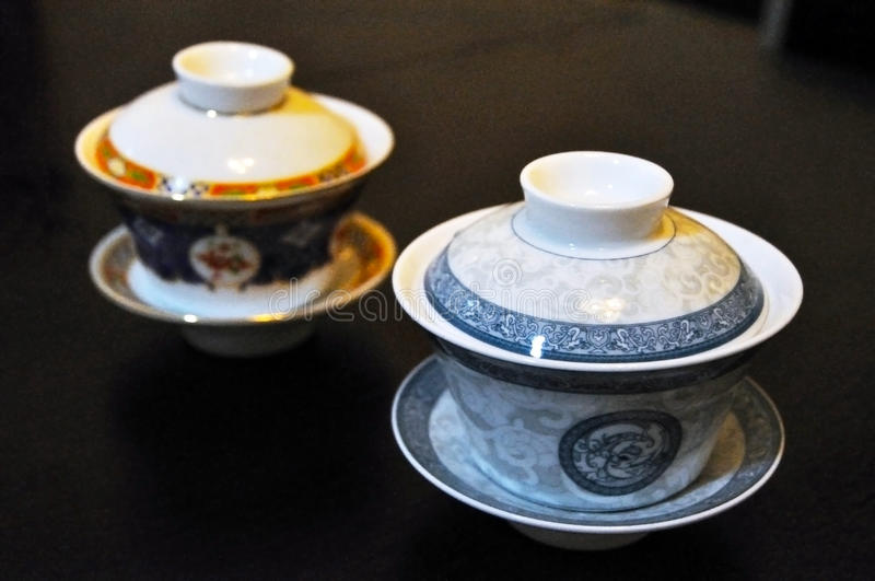 Download Two Chinese tea cups stock image. Image of isolated, health - 16616155