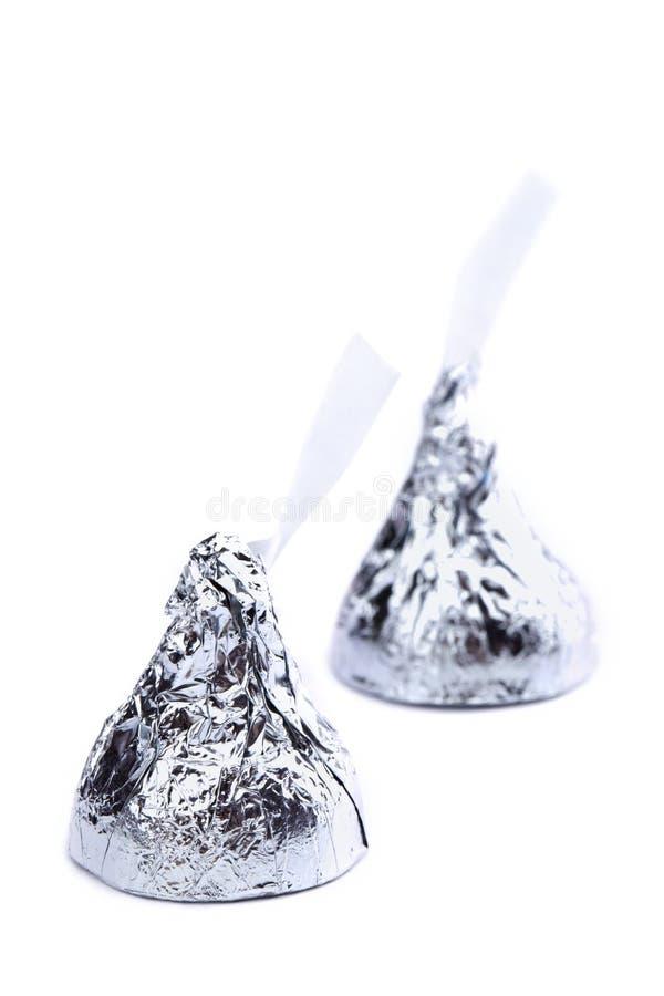 Free Two Chocolate Kisses Stock Photo - 48230650