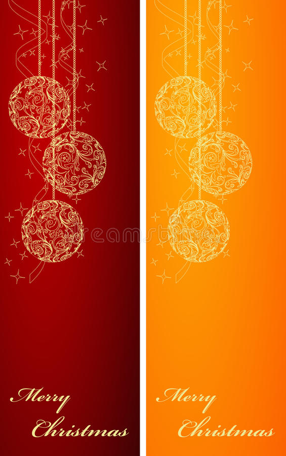 Download Two Christmas backgrounds stock vector. Image of orange - 12080438