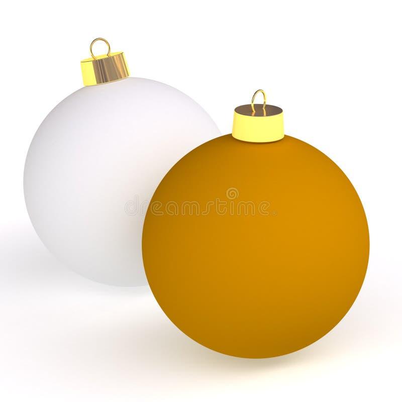 Download Two christmas balls stock illustration. Illustration of element - 7084786