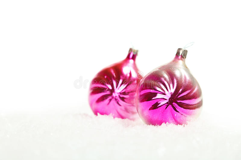 Download Two Christmas Balls Decorations Stock Photo - Image: 21703322