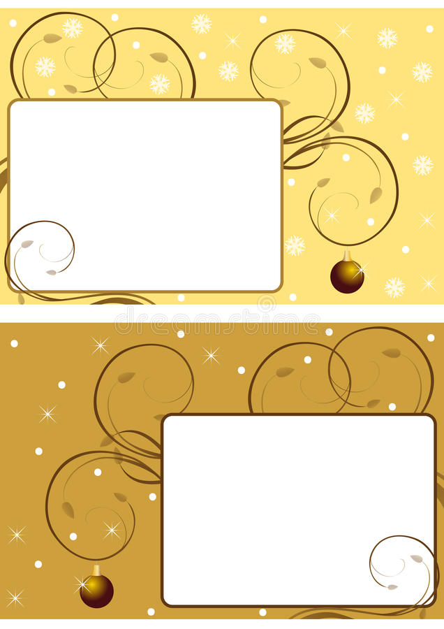 Two christmas frames 3 royalty free illustration