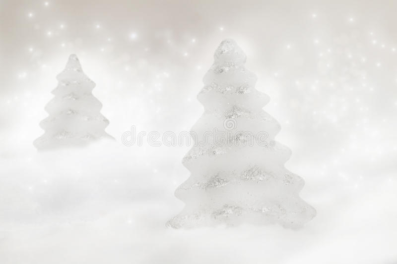 Download Two Christmas trees stock image. Image of cold, decoration - 17240229