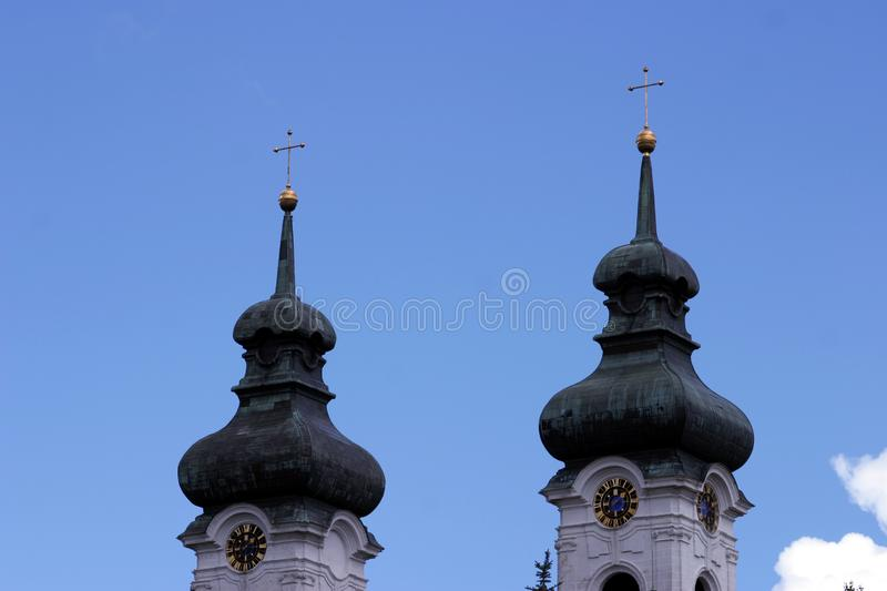 Download Two church towers stock image. Image of round, roof, religion - 19261