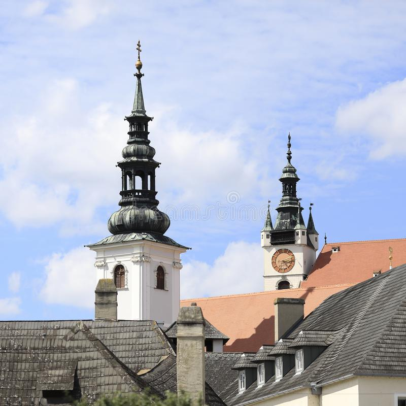 Free Two Church Towers, Krems, Lower Austria Royalty Free Stock Photography - 141402897
