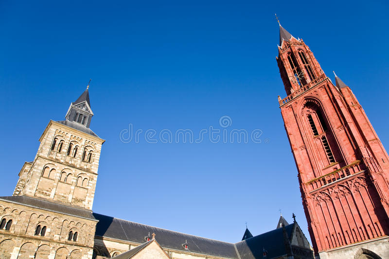 Two Churches, Maastricht royalty free stock photo