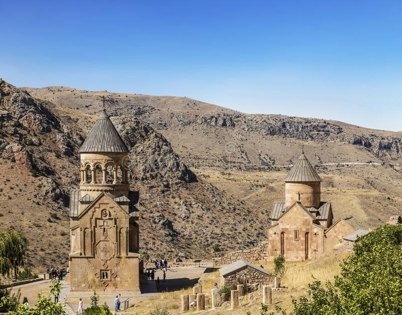 Two churches Surb Nshan of the Medieval monastery Horomayr – is located South-East of Odzun village, Lori region,. Armenia stock image