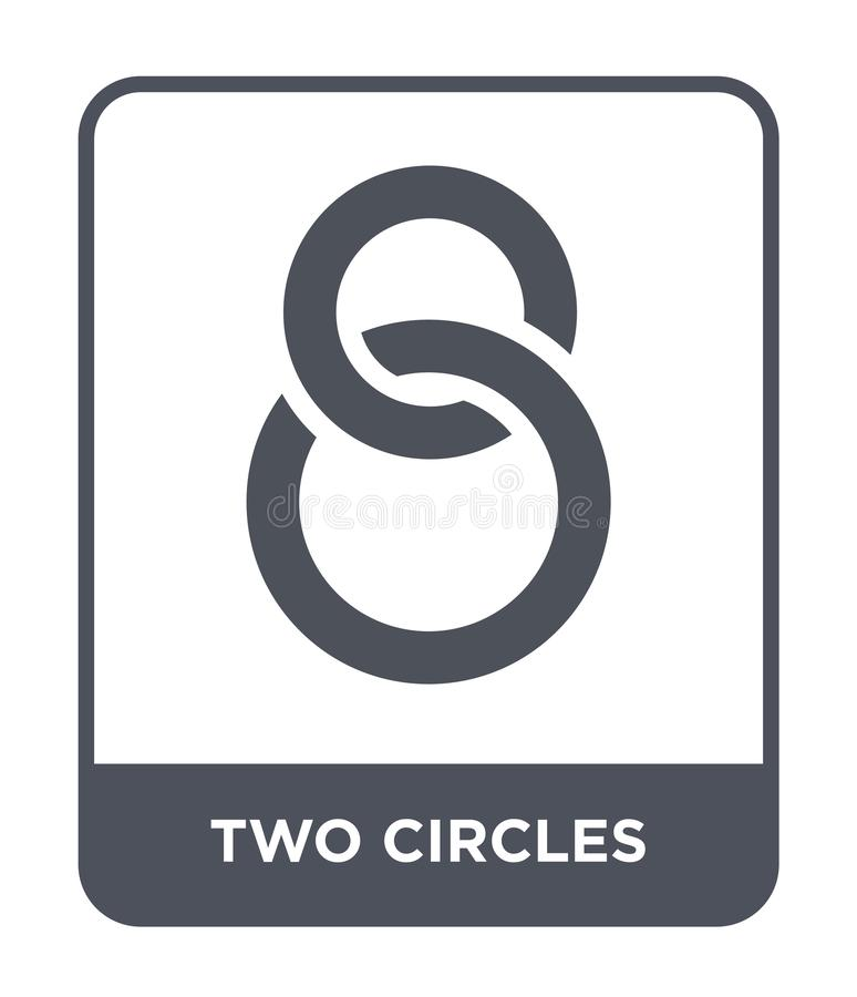 Two circles icon in trendy design style. two circles icon isolated on white background. two circles vector icon simple and modern. Flat symbol for web site stock illustration