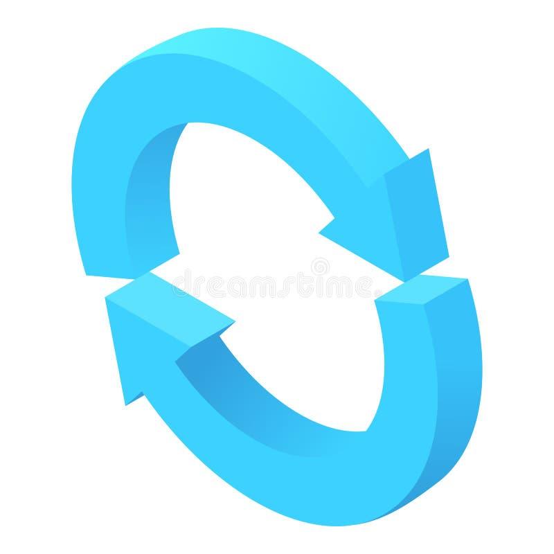 Two circular arrows icon, cartoon style vector illustration