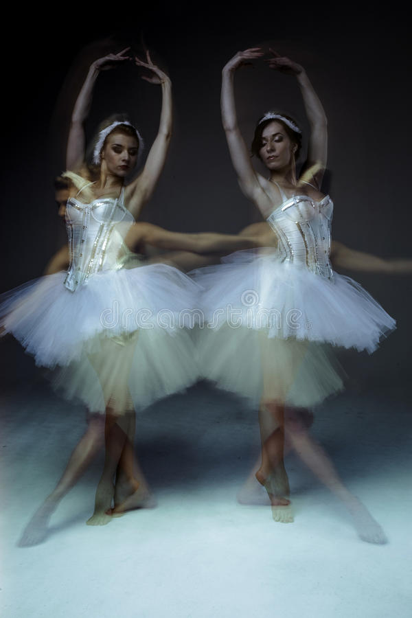 Two classic ballet dancers royalty free stock photography