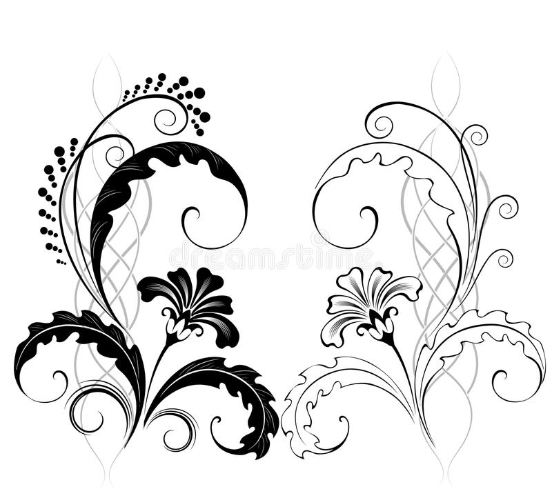 Free Two Classic Flowers Royalty Free Stock Photo - 11754115