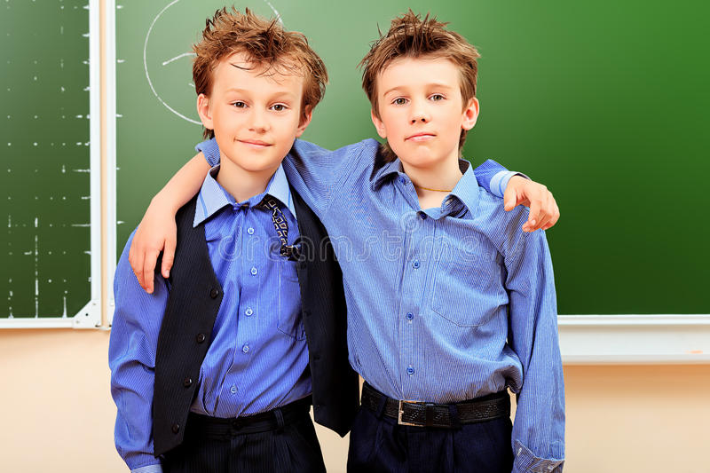 Two Classmates Royalty Free Stock Image