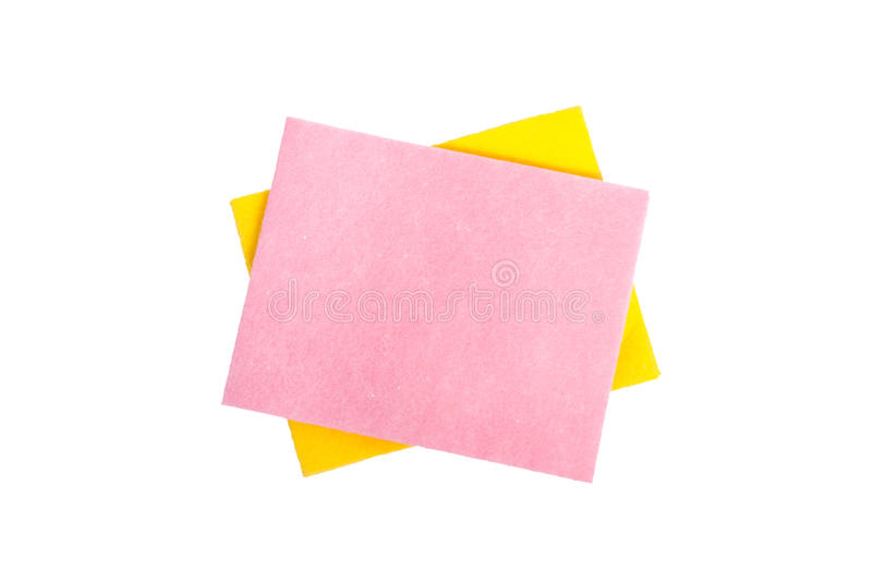 Download Two cleaning napkins stock photo. Image of isolated, yellow - 18318830