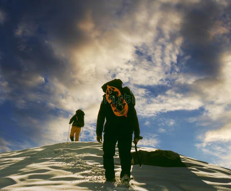 Two Climbers Stock Photo