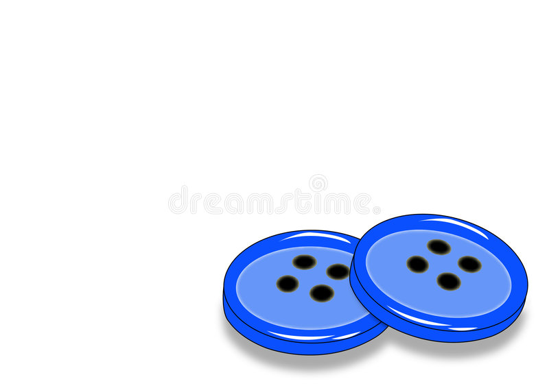 Two clothing buttons royalty free illustration