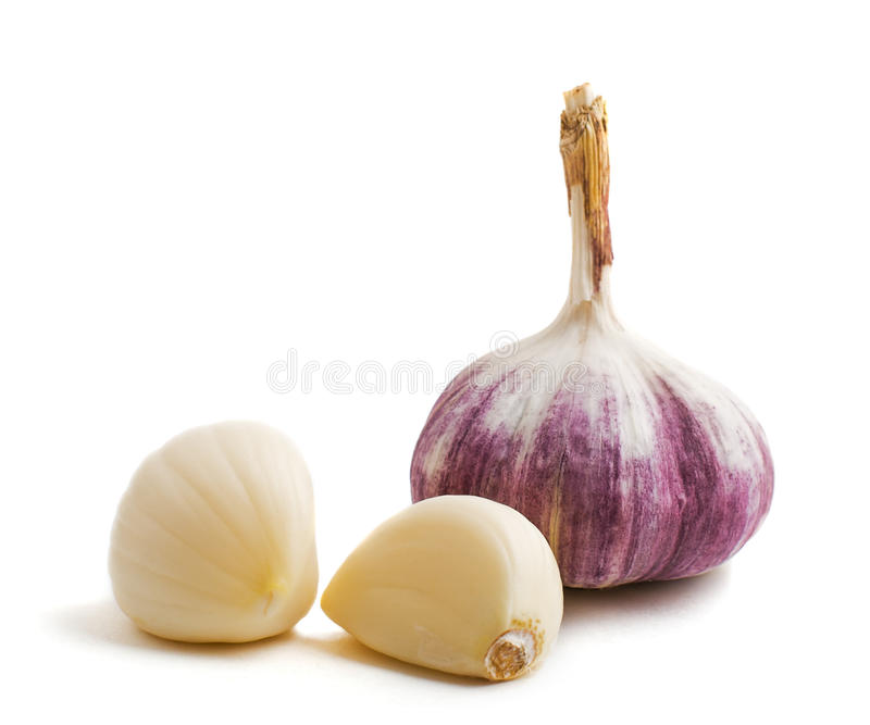 Download Two Cloves And Bulb Of Garlic Stock Image - Image: 12667185