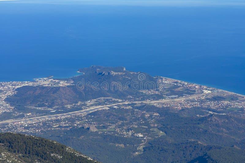 Two coastal resorts of Antalya side by side stock photos