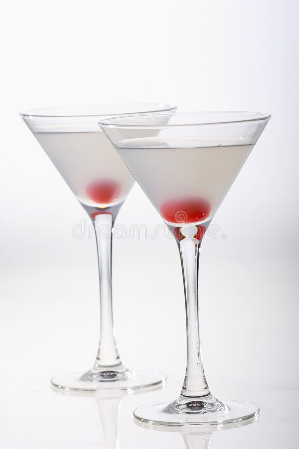 Two cocktails for two friends royalty free stock image