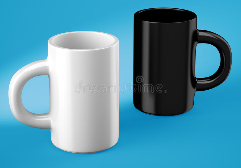 Two coffee cups royalty free illustration