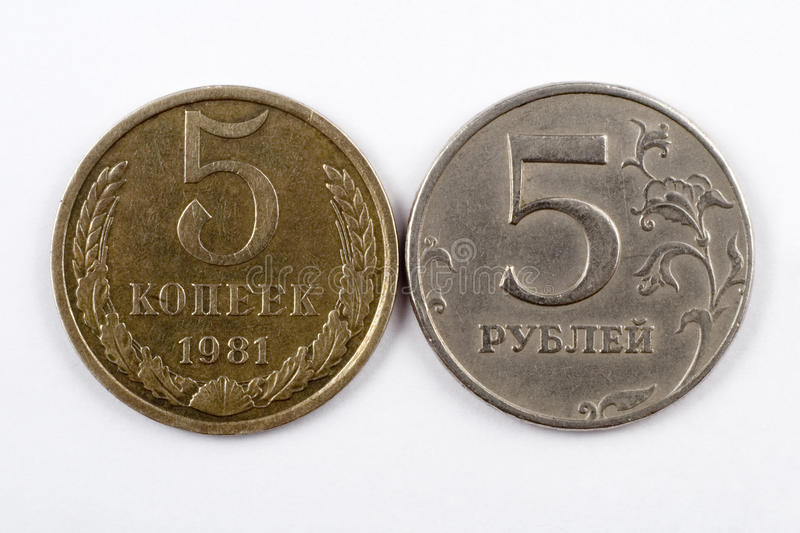 Download Two coins stock image. Image of metal, russia, credit - 17827147