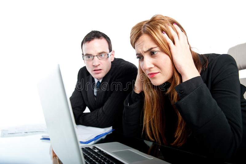 Download Two Colleagues Working Together And Getting Stressed Stock Photo - Image: 32540454