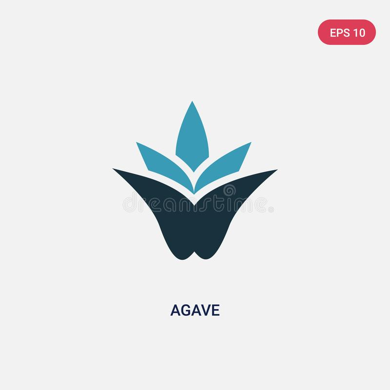 Two color agave vector icon from nature concept. isolated blue agave vector sign symbol can be use for web, mobile and logo. eps royalty free illustration