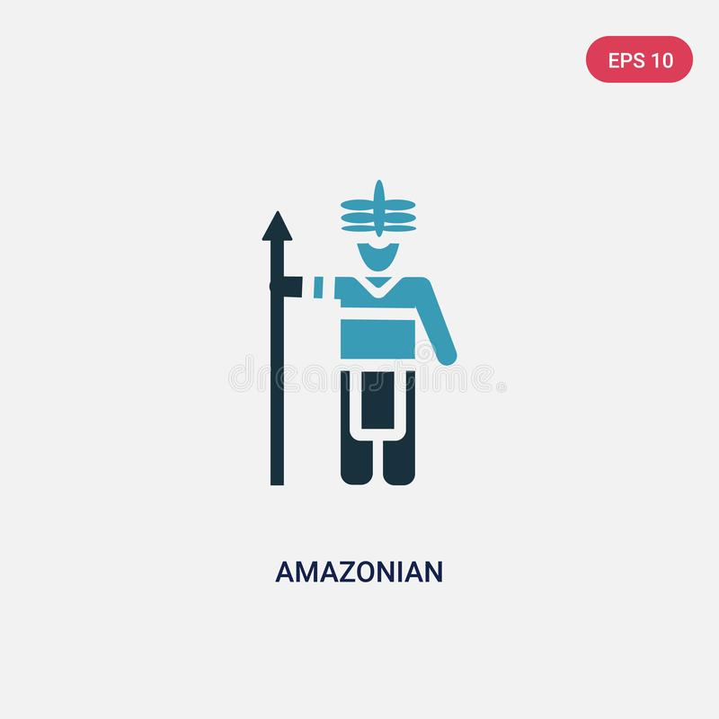 Two color amazonian vector icon from people concept. isolated blue amazonian vector sign symbol can be use for web, mobile and stock illustration