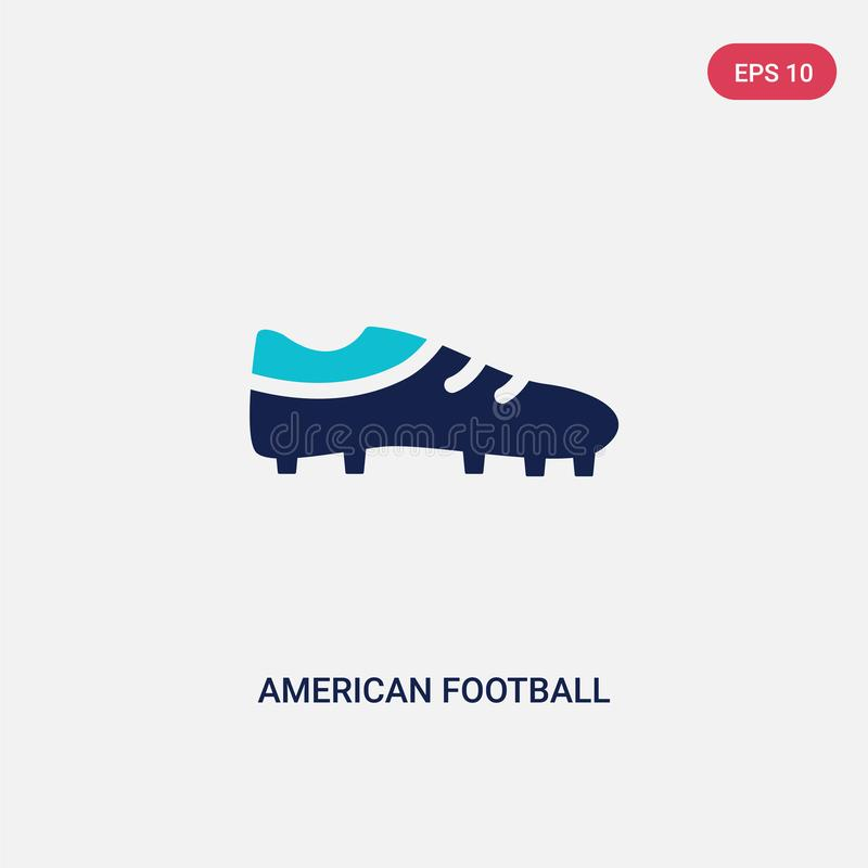 Two color american football black shoe vector icon from american football concept. isolated blue american football black shoe royalty free illustration