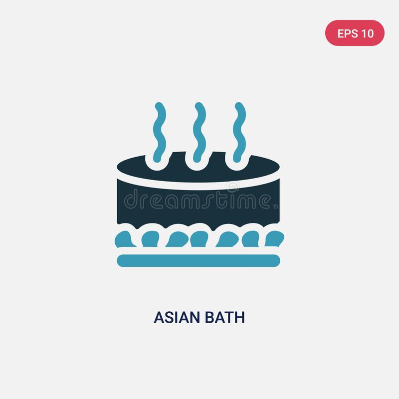 Two color asian bath vector icon from sauna concept. isolated blue asian bath vector sign symbol can be use for web, mobile and. Logo. eps 10 vector illustration