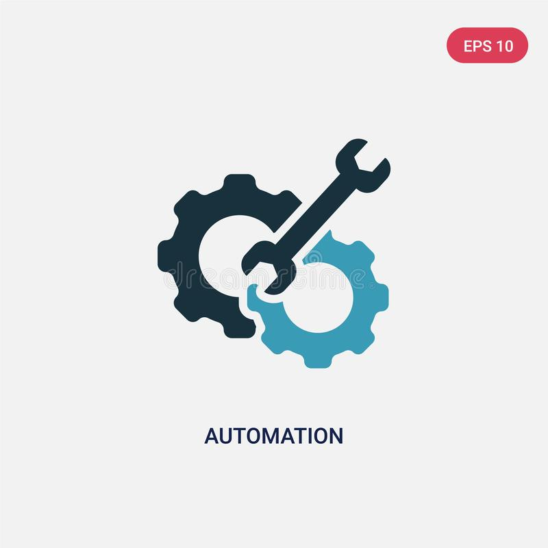 Two color automation vector icon from smart house concept. isolated blue automation vector sign symbol can be use for web, mobile stock illustration