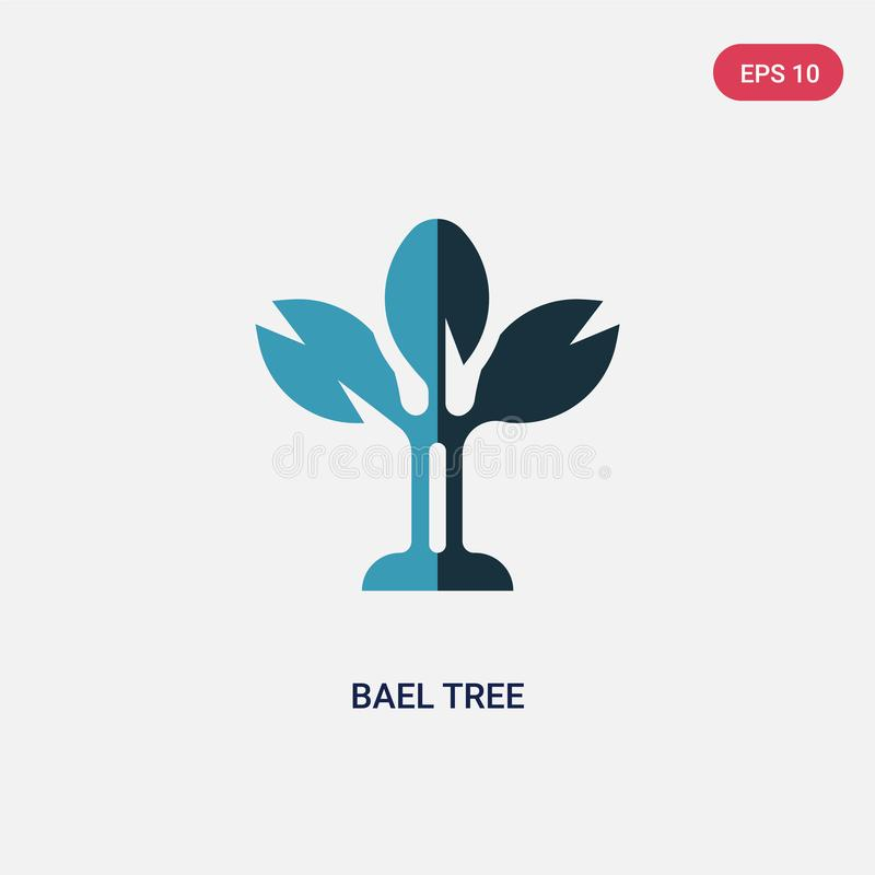 Two color bael tree vector icon from religion concept. isolated blue bael tree vector sign symbol can be use for web, mobile and royalty free illustration