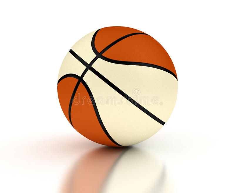 Two color basketball royalty free stock photography