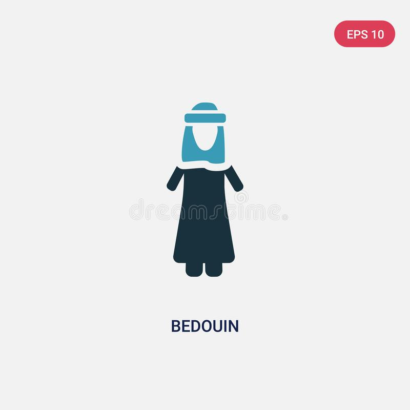 Two color bedouin vector icon from people concept. isolated blue bedouin vector sign symbol can be use for web, mobile and logo. stock illustration