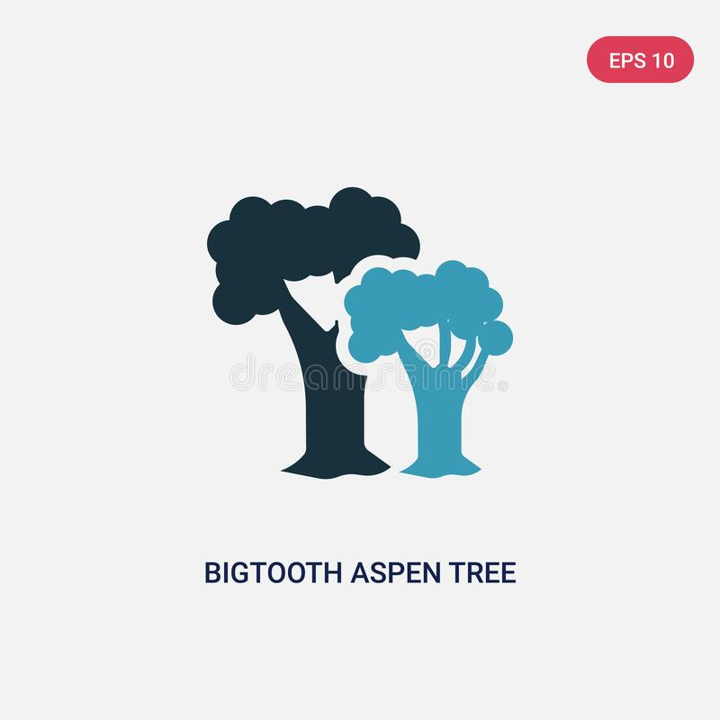 Two color bigtooth aspen tree vector icon from nature concept. isolated blue bigtooth aspen tree vector sign symbol can be use for. Web, mobile and logo. eps 10 vector illustration