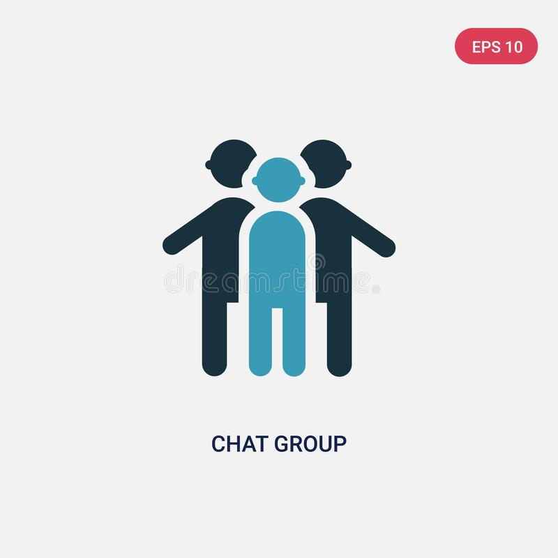 Two color chat group vector icon from people concept. isolated blue chat group vector sign symbol can be use for web, mobile and vector illustration