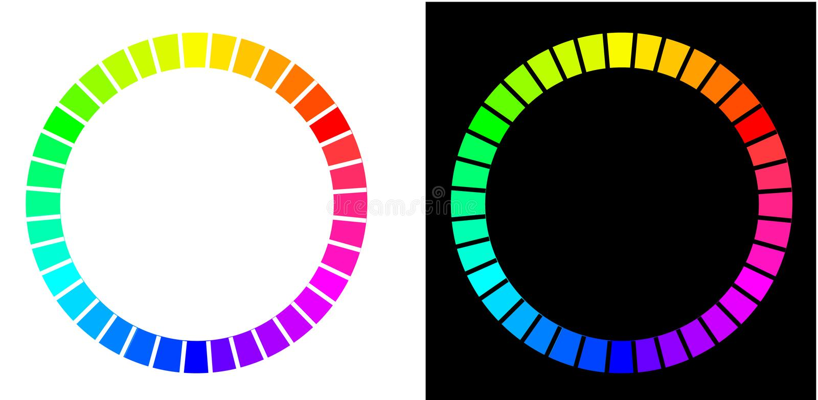 Two color circles royalty free illustration