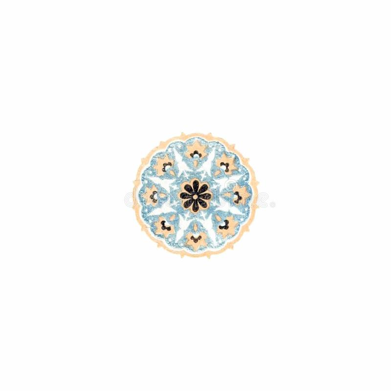 Two-Color Circular Ornament royalty free stock photography