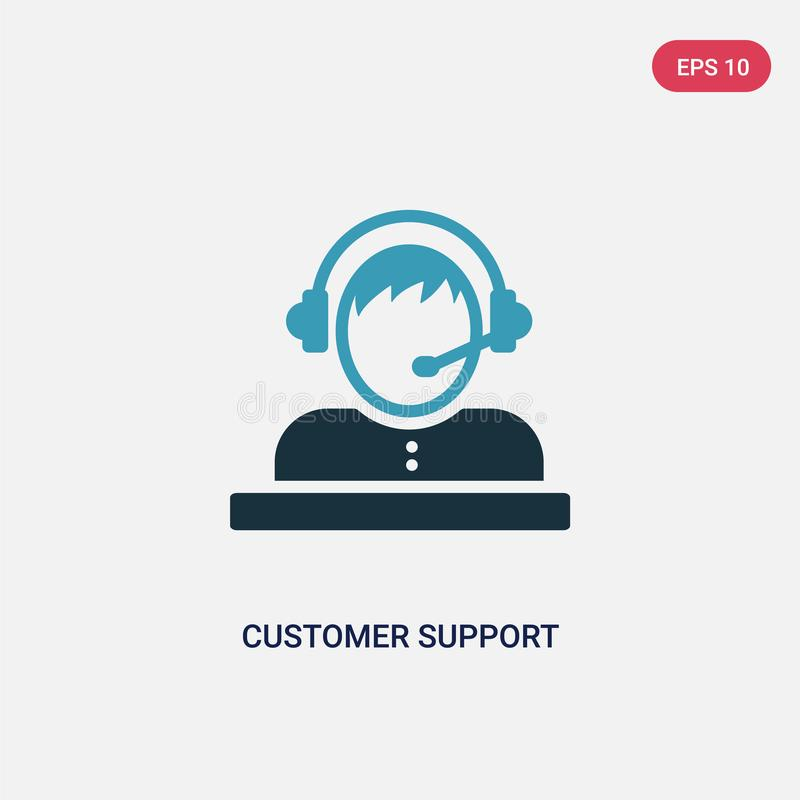 Two color customer support vector icon from strategy concept. isolated blue customer support vector sign symbol can be use for web vector illustration